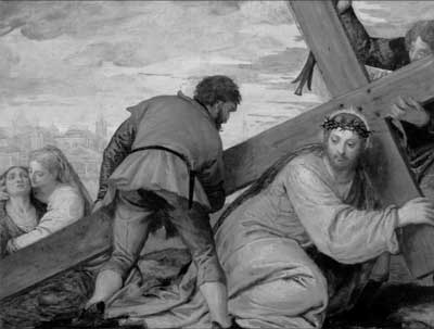 Christ Sinking under the Weight of the Cross